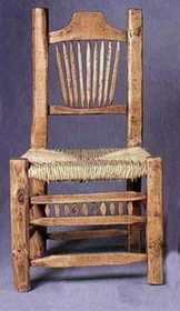 Rustic Pine Furniture 510 Peeled Pine Chair