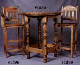 Rustic Pine Furniture 1598 30 in Bar Chair W/Arms