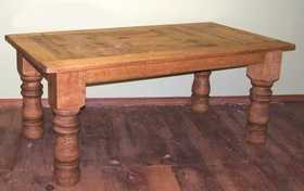 Rustic Pine Furniture 800 84 in Log Leg Table