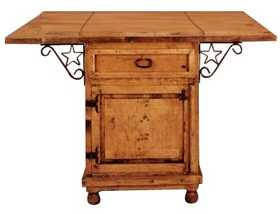 Rustic Pine Furniture 2046 Kitchen Island