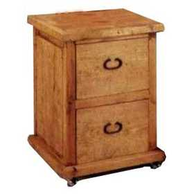 Rustic Pine Furniture 2072 Wood File Cabinet
