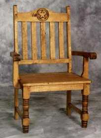 Rustic Pine Furniture 1171 Big Gringo Arm Chair W/Star