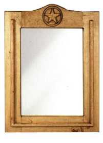 Rustic Pine Furniture 1179 Wood Star Mirror