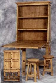Rustic Pine Furniture 2302 Chuck Wagon Table