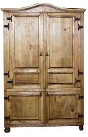 Rustic Pine Furniture 2635 4 Door Armoire