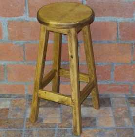 Rustic Pine Furniture 2444 Small Wooden Stool