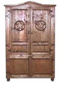 Rustic Pine Furniture 3403 Star Armoire