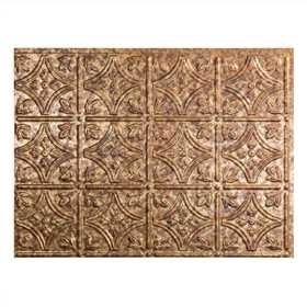 Acoustic Ceiling Products D60-19 Fasade 18 in X 24 in Traditional 1 Backsplash Panel In Cracked Copper