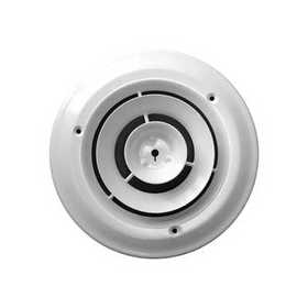 Accord Ventilation ABCDWH06 Ceiling Damper 6 in White Round