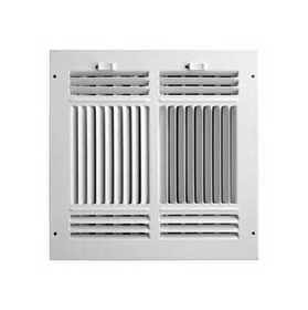 Accord Ventilation ABSWWH41010 4-Way Sidewall /Ceiling Register 10x10 Aluminum