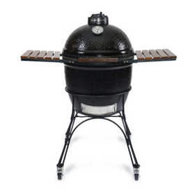 Kamado Joe Grills KJ23B Kamado Joe Grill 23 in Black With Cart & Shelves