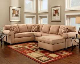 Affordable Furniture 3051/3052 Sectional Patriot Mocha