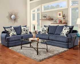 Affordable Furniture 3652 Love Seat Caliber Navy