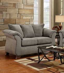 Affordable Furniture 6702 Sensations Loveseat In Grey