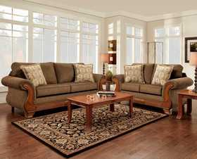 Affordable Furniture 8402 Loveseat Kindred Brown