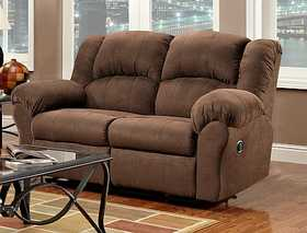 Affordable Furniture 1002 Aruba Reclining Loveseat In Chocolate