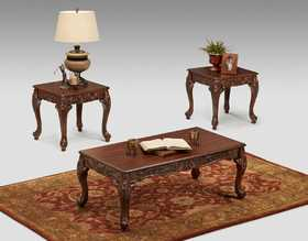 Affordable Furniture 8509 Wink Chestnut Occasional Table Set 3pc