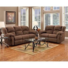Affordable Furniture 1009 Sofa Only Reclining Aruba Chocolate Power Couch
