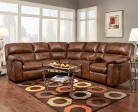 Affordable Furniture 1451/1452/1457 3 Piece Wyoming Saddle Sectional