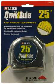 Allied Intl 32877 1 x 25 ft Qwikrule Tape Measure