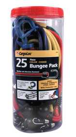 Cargoloc 84076 25pc Color Coded Bungee Pack
