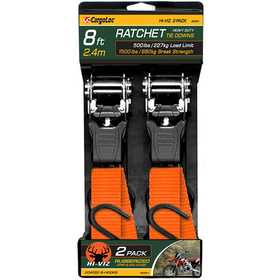 Cargoloc 32581 8 ft Heavy Duty Ratchet Tie Downs 2pk