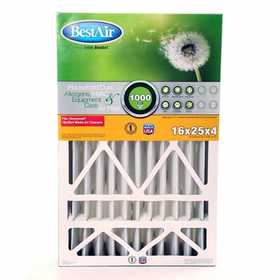 BestAir HW1625 16x25x4 in Honeywell Air Cleaner Replacement Filter