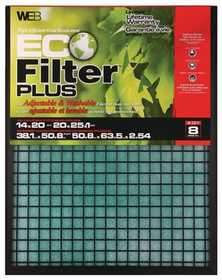 Protect Plus Industries WP1625 16x25x1 in Eco Plus Reusable Air Filter
