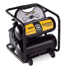 Steele CE355TM 5 Gal Portable Twin Tank Air Compressor