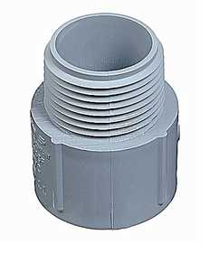Thomas & Betts E943GR-CTN 1-1/4 in Schedule 40 Non-Metallic Male Terminal Adapter