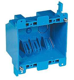 Thomas & Betts B225R-UPC 2-Gang 25 Cu.in. Blue Non-Metallic Old Work Outlet Box