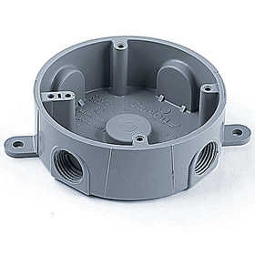 THOMAS & BETTS E365D-CAR 4 in Round Weatherproof T-Box