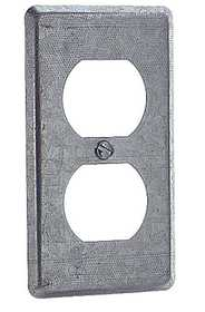 Thomas & Betts 58 C 7 One Gang Utility Box Cover With Duplex Flush Receptacle