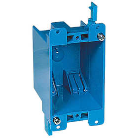 THOMAS & BETTS B114R-UPC 1-Gang 14 Cu.in. Blue Non-Metallic Old Work Outlet Box