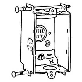 Thomas & Betts A257-25 Galvanized Steel Non-Gangable Switch Box, 3 in X 2 in X 2-1/2 in , 125 Cu In