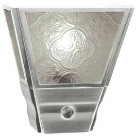 Amertac 75051BN Brushed Nickel Vintage Sconce Auto On/Off Nite Lite