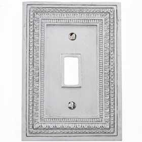 Amertac 8330TFT Filigree Border Tin Resin Wallplate, 1 Toggle