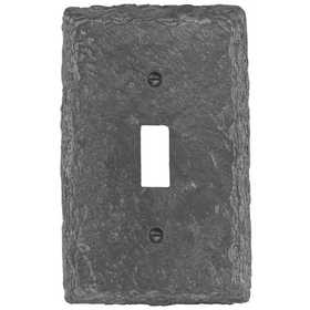 Amertac 8345TG Faux Slate Gray Poly Resin Wallplate, 1 Toggle