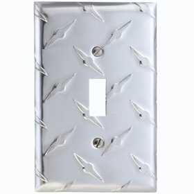 Amertac 955T Garage Diamond Cut Aluminum 1 Toggle Wallplate