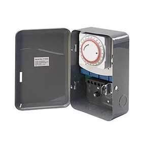 Amertac TM103 Indoor Wire-In Daily Mechanical Time Switch, 125v, Dpst, 40 Amp