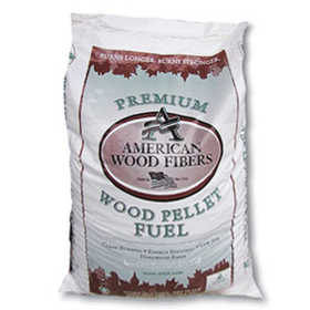 American Wood Fibers PELLET403A Hardwood Wood Fiber Pellets 40lb Bag