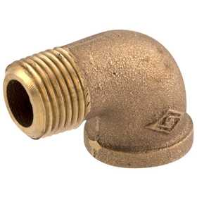 Watts LFA-832 1/2 in Mip X 1/2 in Fip Lead Free Cast Red Brass Male Pipe To Female Pipe 90° Street Elbow