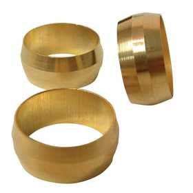 Watts A202/PB60 1/2 Compression Brass Sleeve 3-Pack