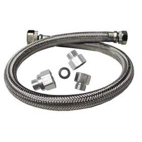 Watts WTS-SPC20-UTX Universal Stainless Steel Faucet Supply Line Te X As Style