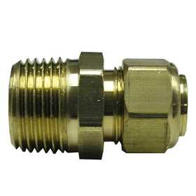 Watts LFA-123 3/8 in Od Compression X 3/8 in Mip Lead Free Ander-Lign Tube To Male Pipe Connector With Insert