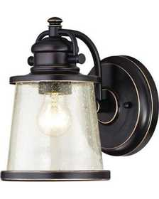 Westinghouse Lighting 62040 1 Light Outdoor Wall Lantern, Amber Bronze