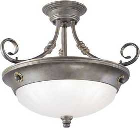 Westinghouse Lighting 69191 Semi Flush Mount 3-Light Excavated Bronze