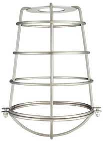 Westinghouse Lighting 8503100 Brushed Nickel Industrial Cage Neckless Metal Shade