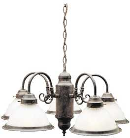 Westinghouse Lighting 67141 5 Light Chandelier Sienna Finish With Frosted Ribbed Glass
