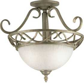 Westinghouse Lighting 67595 Semi Flush Mount 2-Light Ebony Bronze